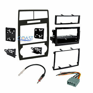 Stereo Double Din Dash Kit Harness Antenna For 2005 2007 Dodge Magnum Charger