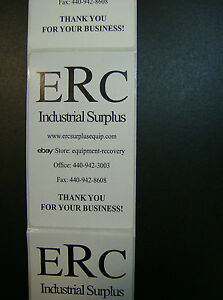 Custom Printed Rectangle Labels 1000 5 X 3 Business Roll Stickers 1 color Ink