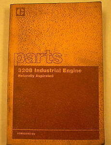Cat Caterpillar 3208 Industrial Engine Parts Manual Sebp1306