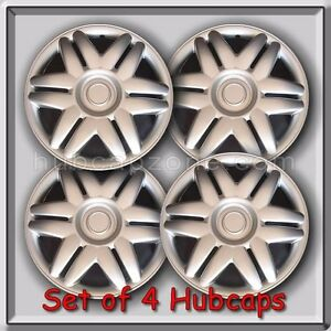 Set Of 4 15 Silver Toyota Camry Hubcaps 2000 2001 Replica Camry Wheel Covers