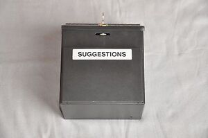 Safco Products 4232bl Suggestion Box Black