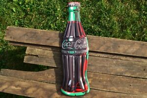 Coca-Cola Bottle Embossed Tin Metal Sign - 6