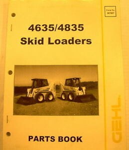 Gehl 4635 4835 Skid Loaders Parts Manual 907807