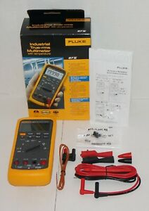 Fluke 87 v 87v Industrial Automotive Truerms Digital Multimeter Temperature New