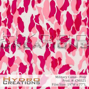 Hydrographic Film Pink Military Camo 9 Square Meter Roll