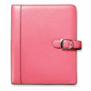 New Day timer 48434 Personal Organizer Starter Set Leather 5 1 2 X 8 1 2 Pink
