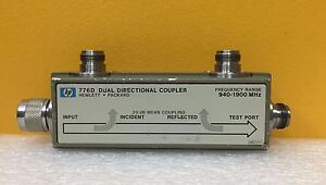 Hp 776d 940 To 1900 Mhz 20 Db Coupling type N Coaxial Dual Directional Coupler