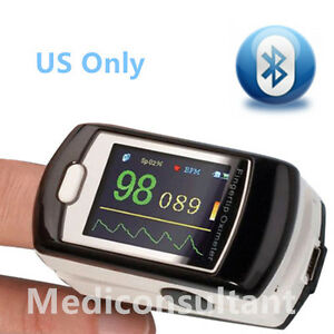 usa Stock Contec Cms50ew Bluetooth Wireless Fingertip Pulse Oximeter free S w