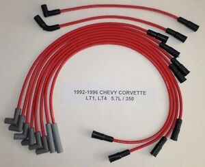 Chevy Corvette 1992 1996 5 7l 350 Lt1 Lt4 Red Performance Spark Plug Wires Usa