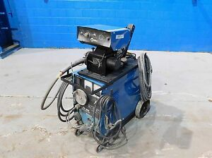 200 Amps Miller Cp 200 Mig Welder Wire Feed Cart Leads
