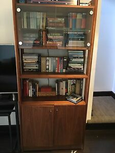 Set Of Three Danish Teak Wall Unit Bookcase Shelving
