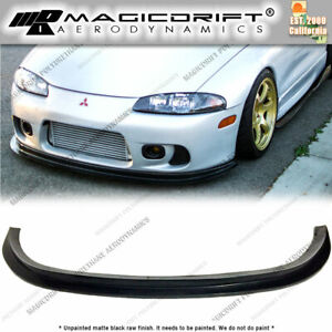 For 97 99 Mitsubishi Eclipse 2g Dsm Splitter Style Front Bumper Lip Gs Gsx Gst