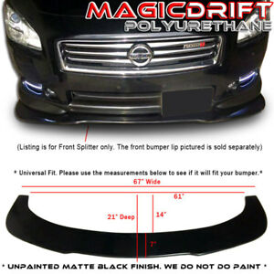 Universal Front Bumper Lip Flat Splitter Plate Under Panel Diffuser Bmw Benz 67