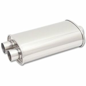 Vibrant Performance Streetpower Oval Muffler 2 5 Inlet Center In Dual Out