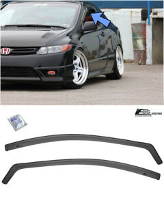 Eos Visors For 06 11 Honda Civic Fg1 Fg2 In channel Side Window Rain Deflectors