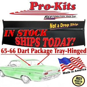 Fits 65 66 Dart 2 Door Hardtop Rear Window Package Tray Shelf W Vinyl Hinge New