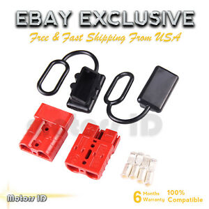 6 10 Gauge Battery Quick Connect Disconnect Plug Kit Recovery Winch Trailer 120a