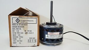 Nos Packard Franklin Electric Shade Pole Motor 1050 900rpm 82234 8715810121