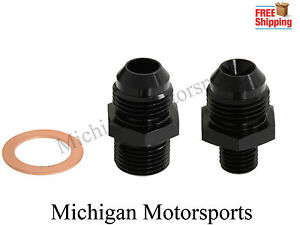 Bosch 044 Fuel Pump Inlet Outlet Fittings Crush Sleave 10 An Inlet 8an Outlet