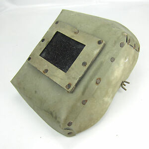 Vintage Welding Mask Shield Hood Helmet Cardboard Great Decoration Steampunk 43