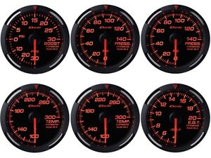 Defi Red Racer 60mm 6 Gauges Set boost oil fuel Press oil water Temp egt