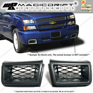 For 03 07 Chevy Silverado 1500 Front Bumper Brake Air Ducts Ss Style Pair Black