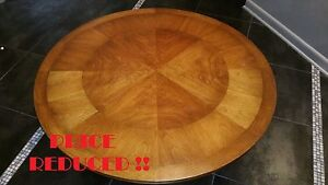 American Mid Century Modern Lido 40 Round Coffee Table By Weiman Heirloom