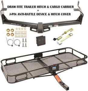 15 17 Jeep Renegade Trailer Hitch Cargo Basket Carrier Silent Pin Lock Tow