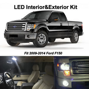 15 X White Led Interior Package Fog Reverse Tag Lights For 2009 2014 Ford F150
