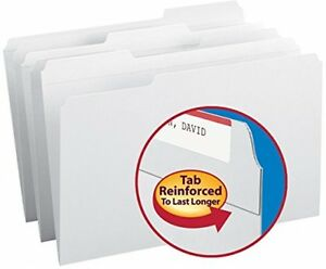 File Folders Reinforced Legal Size Office Filing Documents supplies White 100