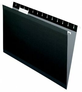 25 Hanging Folders Folder Black Office Supplies Stationary Documents Filing