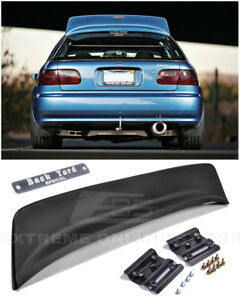 For 92 95 Honda Civic Hatchback Bys Style Rear Roof Wing Spoiler