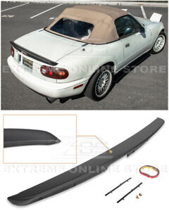 For 90 97 Mazda Miata Mx5 Kg Works Style Abs Plastic Rear Trunk Lid Wing Spoiler