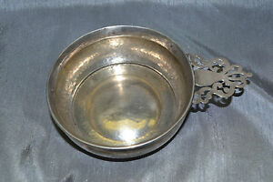 Unique Sterling Silver Porringer Bowl Ss Antique Dated Sept 15 1916