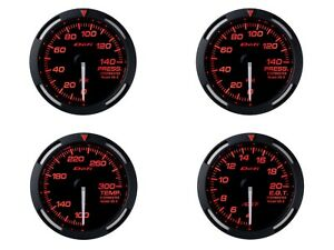 Defi Red Racer 52mm 4 Gauges Set oil Press fuel Press water Temp egt