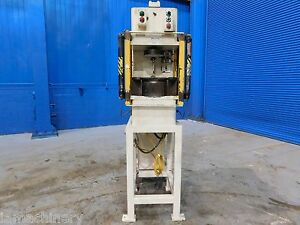 6 Ton Denison Hydraulic C Frame Press 18 X 11 Bed Straightening Punching Press