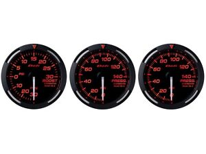 Defi Red Racer 52mm 3 Gauges Set turbo Boost oil Pressure fuel Pressure