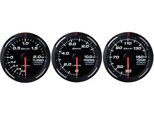 Defi White Racer 60mm 3 Gauges Set turbo Boost oil Pressure oil Temperature