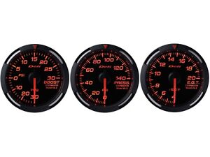 Defi Red Racer 52mm 3 Gauges Set turbo Boost oil Pressure exhaust Gas Temp