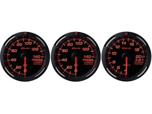 Defi Red Racer 52mm 3 Gauges Set oil Pressure fuel Pressure exhaust Gas Temp