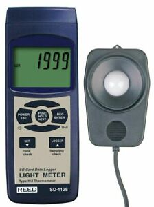 Reed Sd 1128 Light Meter Data Logger 2 000 20 000 100 000 Lux