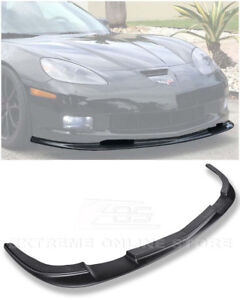 Zr1 Style Abs Plastic Front Bumper Lower Lip Splitter For 05 13 Corvette C6 Z06