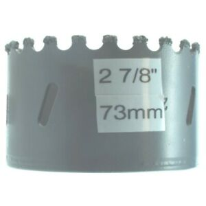 2 7 8 In Tungsten Carbide Tile Hole Saw 73mm Concrete Drywall Hardie Marble Mdf