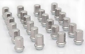 24 Gm Chevy Silverado Suburban Tahoe Avalanche Factory Polished 14x1 5 Lug Nuts