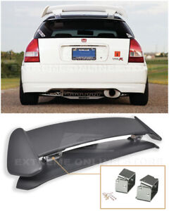 For 96 00 Civic Ej6 Type r Ctr Rear Wing Spoiler W Adjustable Alex Tilt Bracket