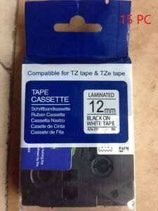 15p Black On White Label Tape Compatible For Brother Tz 231 Tze231 Ptouch 26 2ft