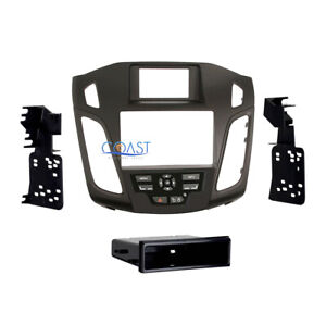 Car Stereo Radio Black Single Double Din Dash Kit For 2012 up Ford Focus