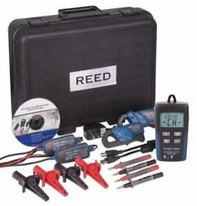 Reed R5003 Ac Voltage Current Data Logger 600v Ac Voltage 200a Current