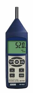 Reed Sd 4023 Sound Level Meter Data Logger 30 To 130db Ce Iec 61672 1 Class 2