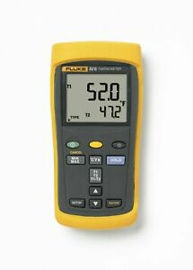 Fluke 52 2 52 ii 60hz Dual Input Digital Thermocouple Thermometer